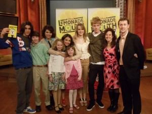 Lemonade Mouth cast with author Mark Peter Hughes & family, April 10, 2011